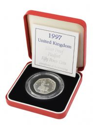 1997 Silver Proof Piedfort 50p for sale